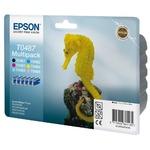 Картридж Epson C13T04874010 (T0487) для  Epson Stylus Photo R200/R300/R300ME/RX500/RX600/RX620/640, Multipack, 78ml